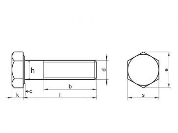 Metric Coarse Structural HSFG Bolt Grade-10.9 EN14399-4 Preload