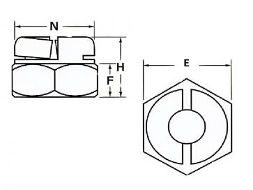 BSF Aerotight All Metal Locking Nut Thin Stainless-Steel-A4