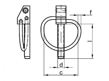 Metric Linch Pin Steel DIN11023