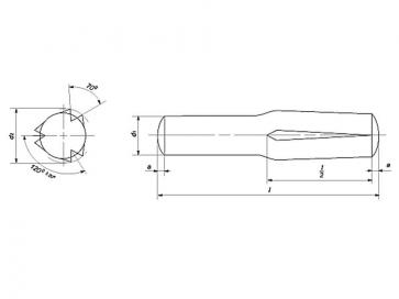 Metric Grooved Pin Half Length Reverse Groove Steel DIN1474