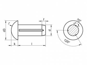 Metric Round Head Grooved Pin Stainless-Steel-A1 DIN1476