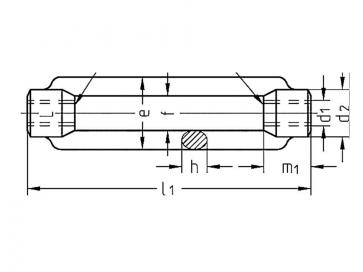 Metric Coarse Open Turnbuckle  Stainless-Steel DIN1480