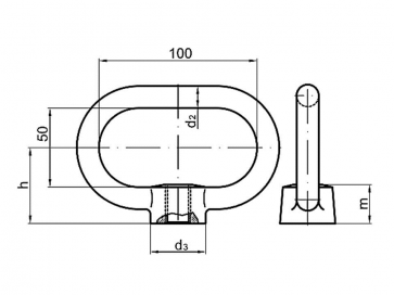 Metric Coarse Clamp Nut Steel DIN28129