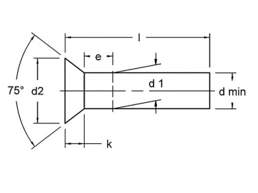 Metric Countersunk Solid Rivet Big Diameters Steel DIN302