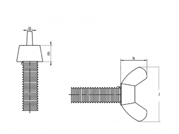 Metric Coarse Wing Screw European Brass DIN318
