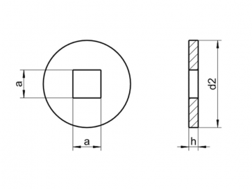 Metric Plate Washer For Wood Square Hole Stainless-Steel DIN440V  sc 1 st  Fastenerdata & Fastenerdata - Metric Plate Washer For Wood Square Hole Stainless ...
