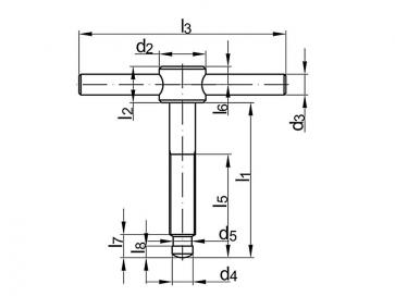 Metric Coarse Tommy Screw Steel DIN6304E