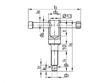 Metric Coarse Tommy Screw Steel DIN6306D
