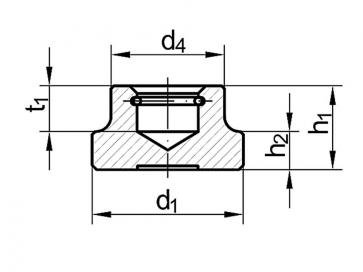 Metric Coarse Round Thrust Pad Nut Steel DIN6311