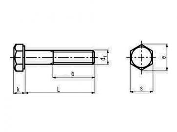 Metric Coarse Structural Hexagon Bolt 1.1/2D HSFG Grade-12.9 DIN6914