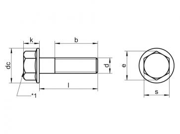 Metric Coarse Flange Bolt Grade-12.9 DIN6921
