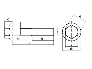 Metric Coarse Flange Bolt Heavy Grade-8.8 DIN6922