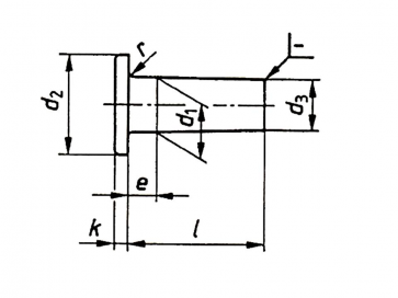 Fastenerdata Metric Solid Flat Head Rivet Brass Din7338a