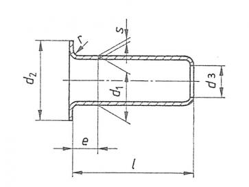 Metric Tubular Hollow Rivet Copper DIN7339