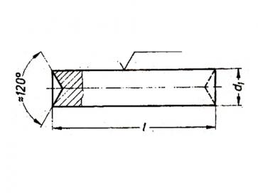 Metric Rivet Pin Stainless-Steel DIN7341B