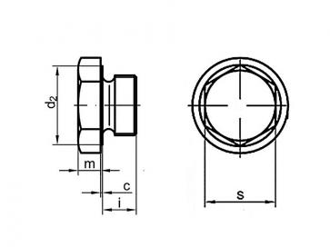 Metric Fine Hexagon Head Plugs Stainless-Steel-A4 DIN7604A