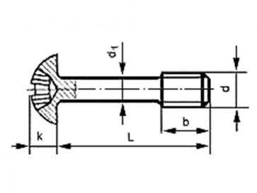 Metric Coarse Reduced Shank Pozi Pan Head Machine Screw Steel DIN7964C