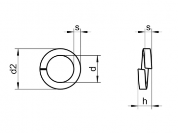 Metric Single Coil Square Section Spring Washer Phosphor-Bronze DIN7980