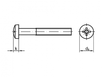 Metric Coarse Pozi Pan Head Machine Screw Grade-4.8 DIN7985Z
