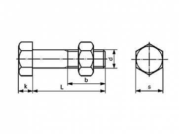 Metric Coarse Hexagon Structural Bolt Grade-4.6 DIN7990