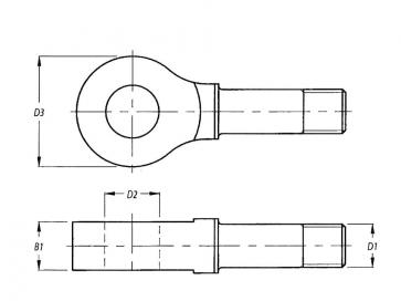 Metric Coarse Eyes For Turnbuckle Steel DIN82010