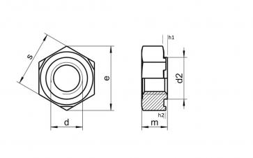 Metric Coarse Hexagon Weld Nut Standard Collar Stainless-Steel-A4 DIN929C