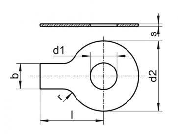 Metric Single Tab Terminal Washer Steel DIN93