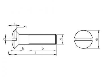 Metric Coarse Slotted Raised Countersunk  Machine Screw Nylon-66 DIN964