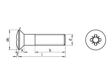 Metric Coarse Pozi Raised Countersunk Machine Screw Stainless-Steel-A2 DIN966