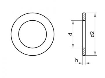 Metric Shim Ring Washer Steel DIN988