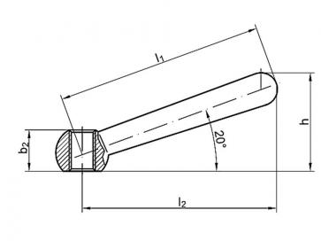 Metric Coarse Clamping Lever Steel DIN99N