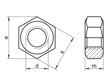 Fastenerdata - Metric Coarse Hexagon Full Nut Stainless