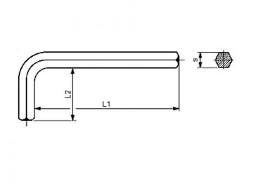 Metric Hexagon Keys Short Arm  Steel DIN911