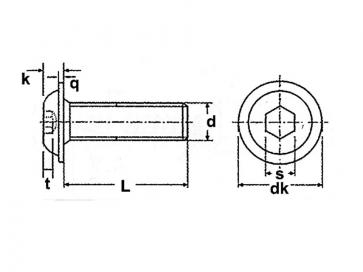 Metric Coarse Socket Flange Button Head Screw Stainless-Steel-A2 RJS2671