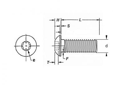 Fastenerdata Unc Torx Socket Button Head Screw Grade 12