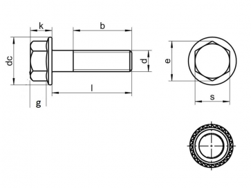 Metric Coarse Tensilock Hexagon Flange Bolt Serrated Underhead Class-L86090/100