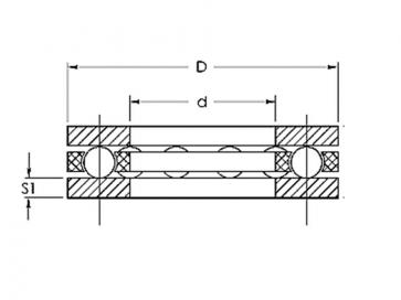 Metric Thrust Bearing Flat Washer Hardened & Ground Steel