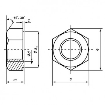 Metric Coarse Structural Hexagon Full Nut HSFG Class-10 EN14399-3