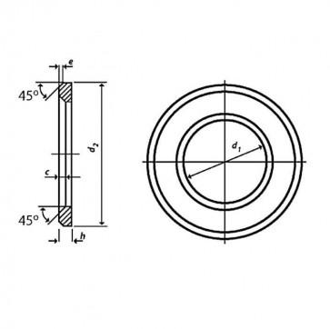 Metric Hardened Chamfered Flat Washer HSFG Hardened Steel BS EN 14399-6