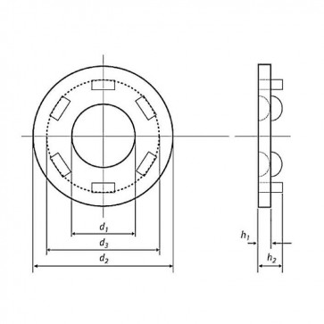 Metric Load Indicating Washer DTI with Pips Hardened Steel HSFG BS EN 14399-9