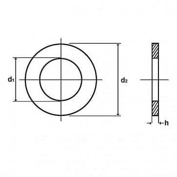 Metric Hardened Flat Washer HSFG Hardened Steel BS EN 14399-9