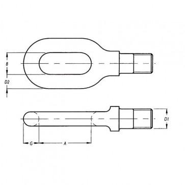 Metric Coarse Eyes For Turnbuckle Steel DIN82006