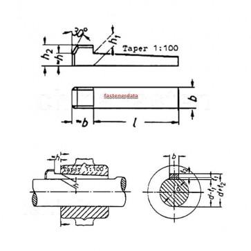 Metric Parallel Keys with Gib Head Steel DIN6884