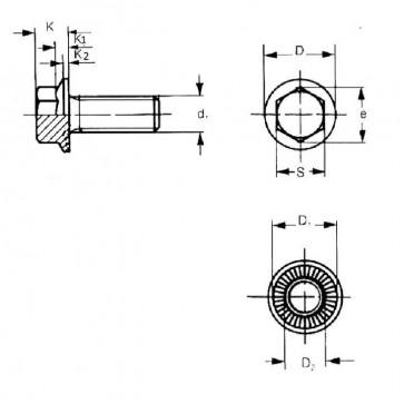 Metric Coarse Durlok Hexagon Flange Bolt Serrated Underhead Grade-12.9