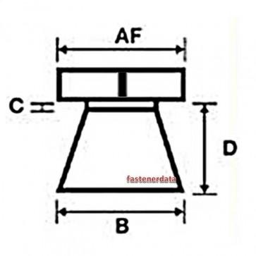 Metric Coarse Shear Nut Galvanised Steel