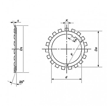 Metric Lock Washer For Lock Nuts DIN981 Steel DIN5406
