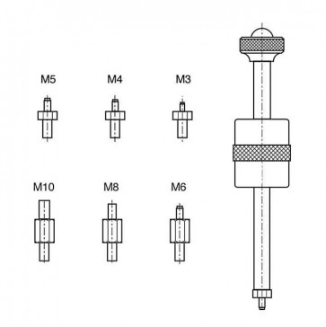 Extractor Tool for Extractable Dowel Pins