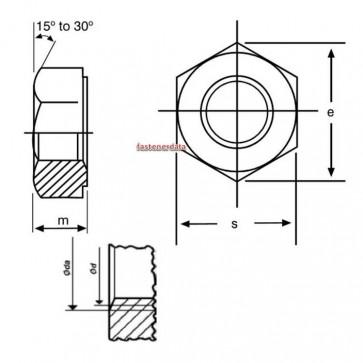 Metric Coarse Structural Hexagon Full Nut HSFG Class-10 BS EN15048 Non Preload
