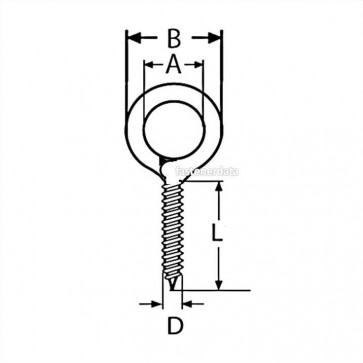 Metric Eye Bent Wire Wood Screw Steel