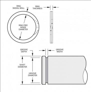 External Spirolox Retaining Rings Type XDNS DIN Series Metric